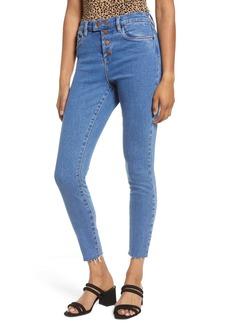 BLANKNYC The Great Jones Snap Tab Skinny Jeans (Varsity Blue)