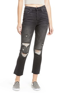 BLANKNYC The Madison Ripped Mid Rise Straight Leg Jeans (Sneak Preview)