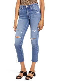 BLANKNYC The Madison Ripped Straight Leg Crop Jeans (Lock It Down)