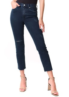 BLANKNYC The Madison Ripped Straight Leg Jeans (On a Roll)