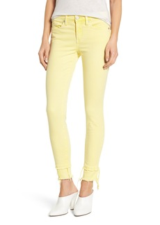 BLANKNYC The Reade Classic Crop Raw Edge Double Hem Jeans