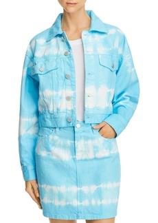 BLANKNYC Tie-Dye Cropped Denim Jacket - 100% Exclusive