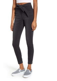 BLANKNYC Tie Waist Skinny Jeans (Blackin Out)