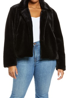 BLANKNYC Uptown Girl Crop Faux Fur Jacket (Plus Size)