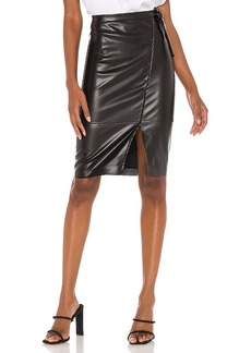 BLANKNYC Vegan Leather Midi Skirt