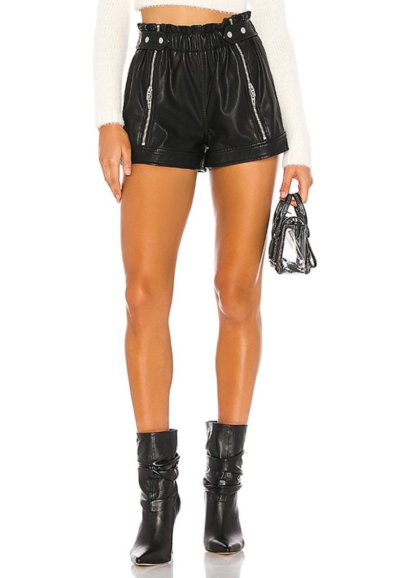BLANKNYC Vegan Leather Side Zipper Short