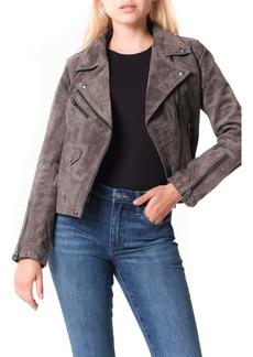 BLANKNYC Vital Signs Suede Moto Jacket