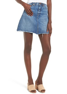BLANKNYC Way Back When Cutoff Denim Skirt