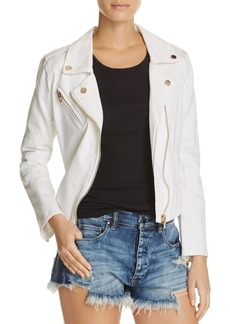 BLANKNYC White Denim Moto Jacket - 100% Exclusive