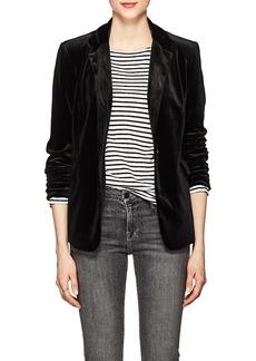 BLANKNYC Women's Velvet One-Button Blazer