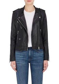 BLANKNYC Women's Vices Leather & Suede Moto Jacket