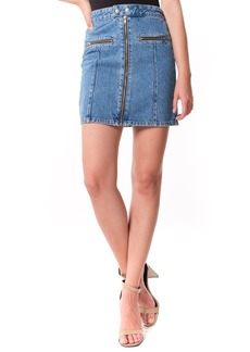 BLANKNYC Zip Detail Denim Miniskirt (London Girl)