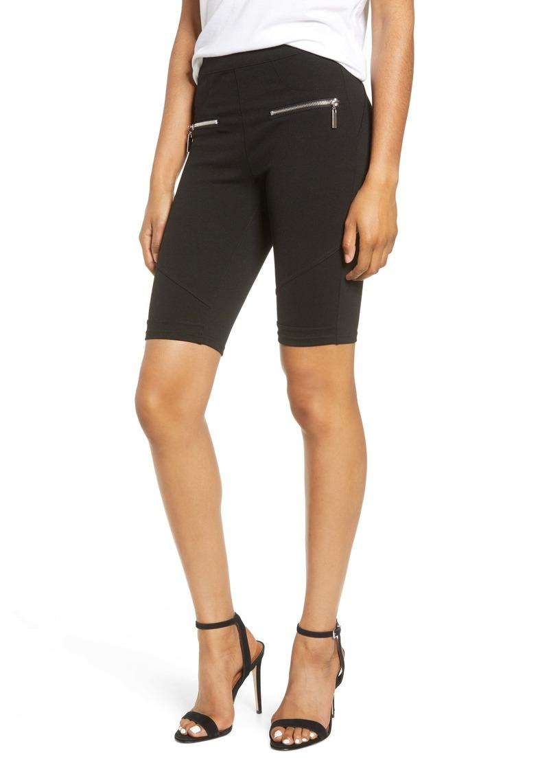 BLANKNYC Zip Detail Ponte Bike Shorts