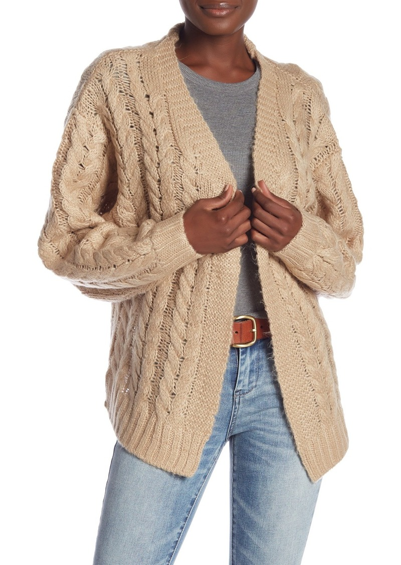 Blank Cable Knit Cardigan