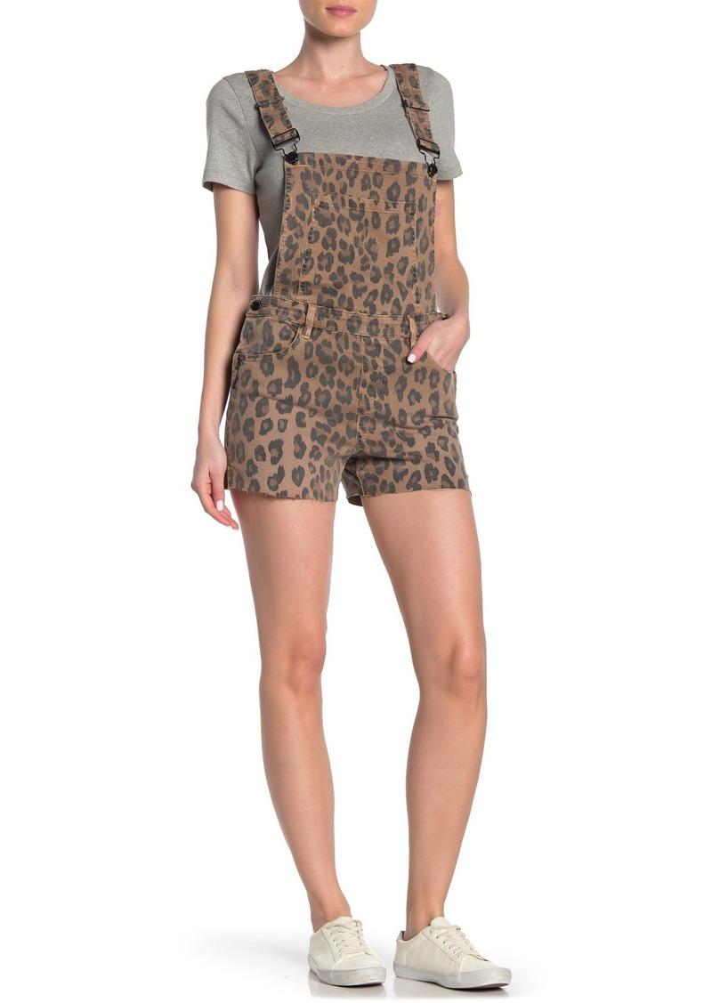 Blank Cheetah Print Short Overalls