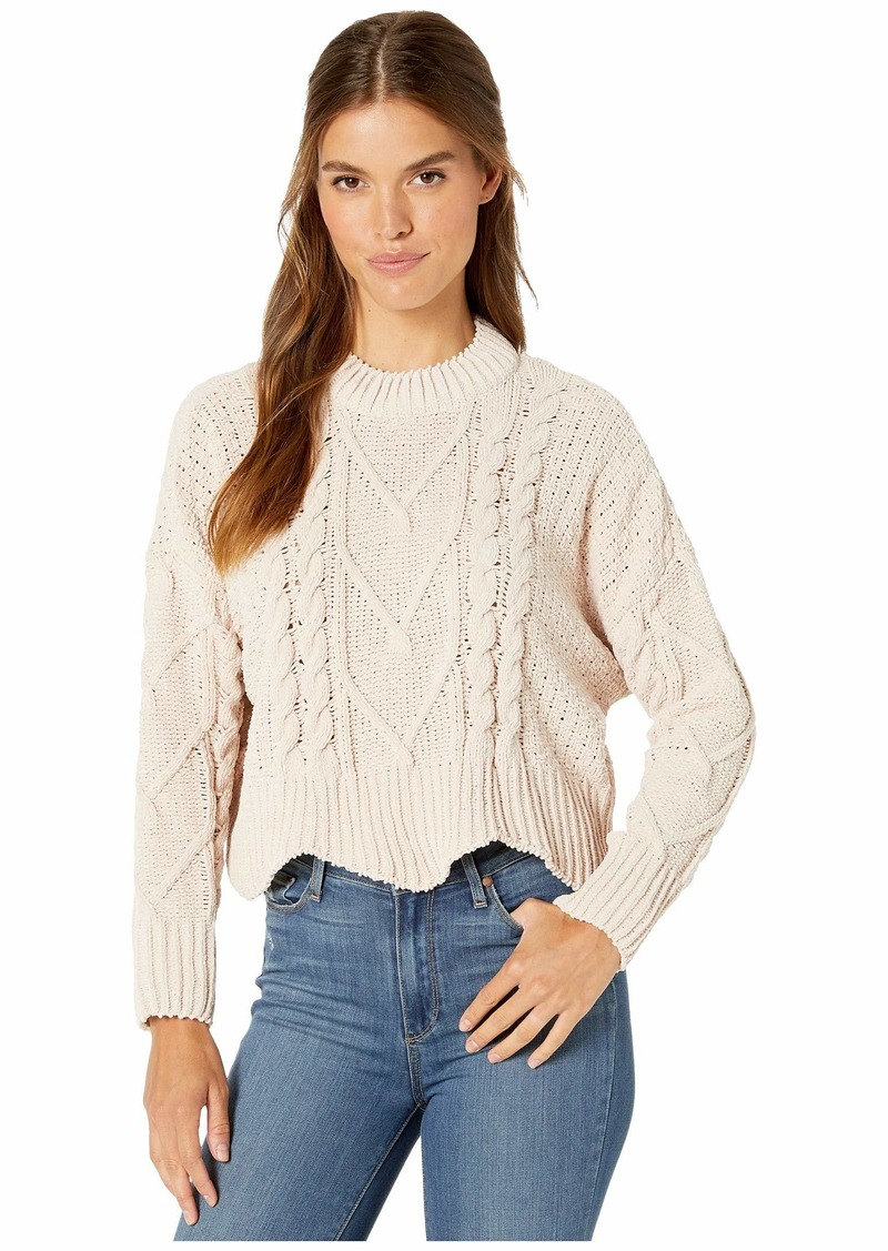 Blank Chenille Cable Knit Sweater