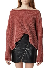 Blank Chenille Off the Shoulder Sweater