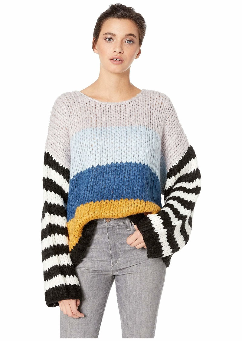 Blank Chunky Multicolor Sweater in Mixed Signals