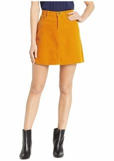 Blank Corduroy Mini Skirt in Marigold