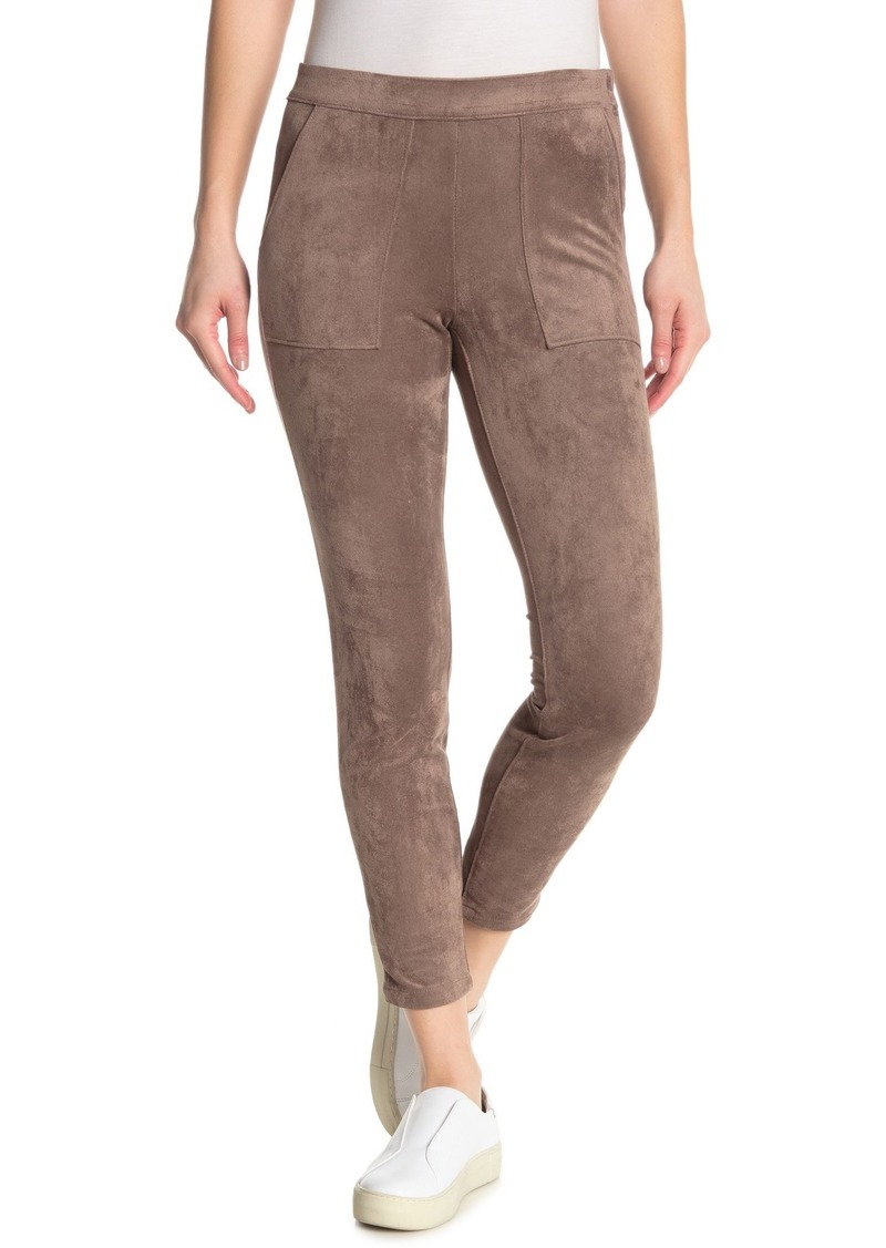 Blank Cropped Faux Suede Pants