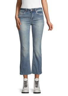 Blank Cropped Flare Jeans