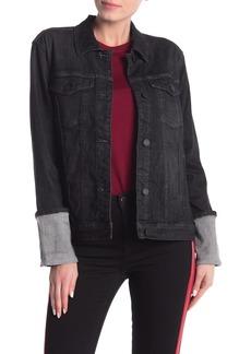 Blank Cuffed Black Denim Jacket
