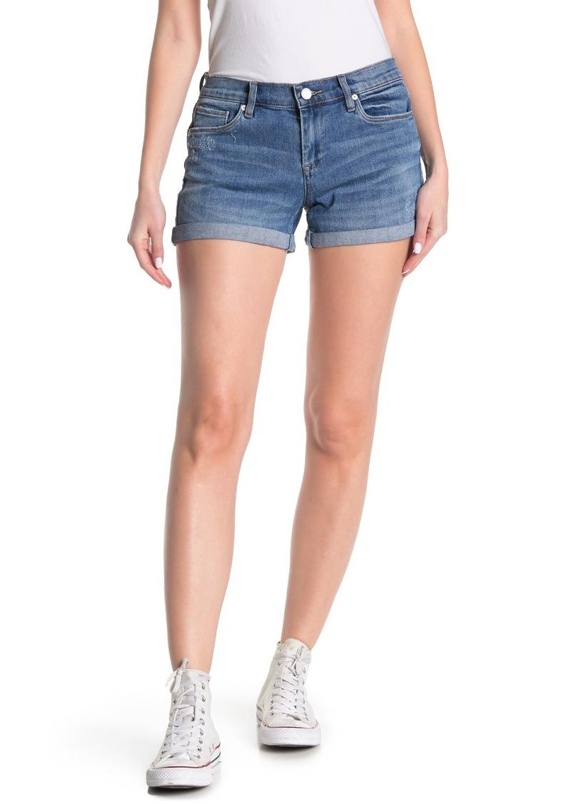 Blank Cuffed Hem Denim Shorts