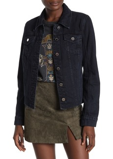 Blank Cutoff Fitted Denim Jacket