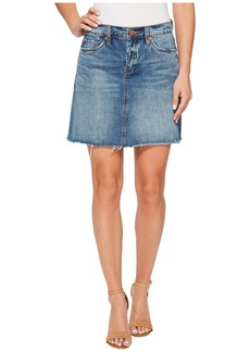 Blank Denim A-Line Mini Skirt in Way Back When