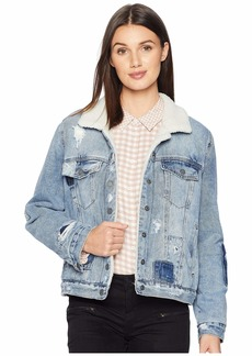Blank Denim and Sherpa Trucker Jacket in Ice Road Trucker