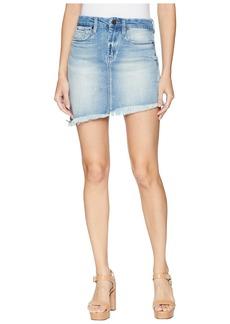 Blank Denim Asymmetrical Skirt in Slumlord