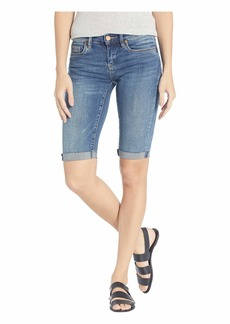 Blank Denim Bermuda Roll Up Shorts in Vendetta