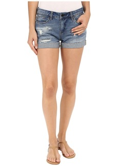 Blank Denim Cuffed Distressed Shorts in Weekend Warrior