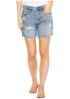 Blank Denim Destructed Mom Shorts in Ms. Throwback