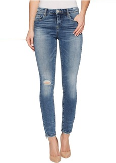 Blank Denim Distressed Mid-Rise Skinny in Trip Switch