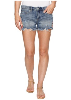 Blank Denim Embroidered Cut Off Shorts in Wild Child