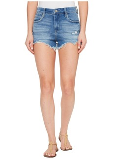 Blank Denim High-Rise Shorts in Puppy Love