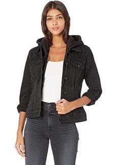 Blank Denim Jacket w/ Removable Hood