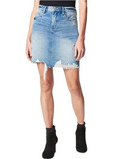Blank Denim Mini Skirt in Love It or Leave It