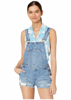 Blank Denim Overalls in Double Agent