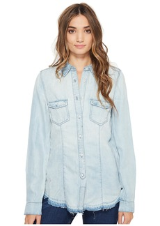 Blank Denim Shirt in Rehab Run