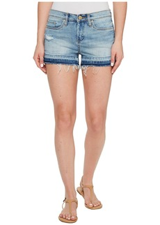 Blank Denim Shorts with Released Hem in Ride It Out