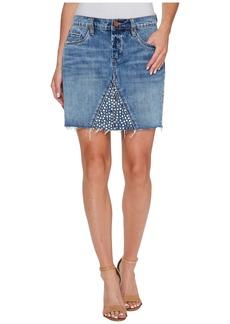 Blank Denim Studded Skirt in Way Back When