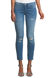 Blank Distressed Ankle Skinny Jeans