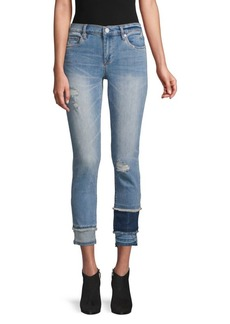 Blank Distressed Colorblock Skinny Jeans