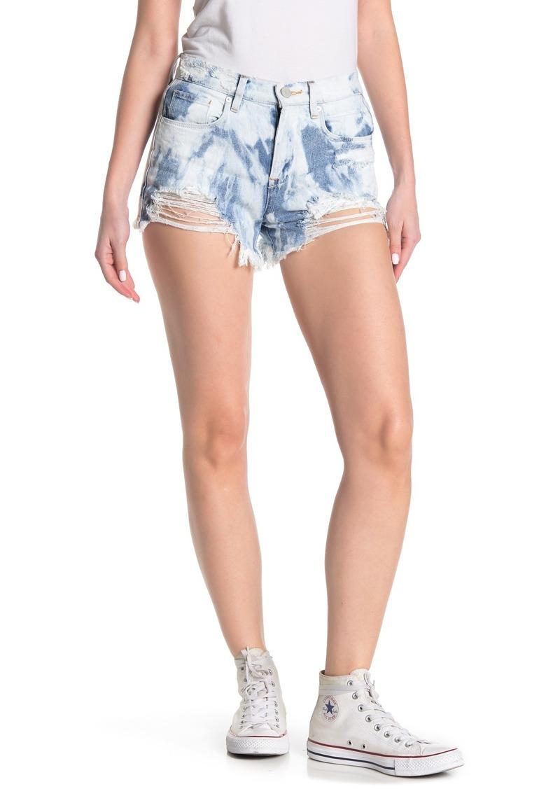 Blank Distressed Denim Shorts