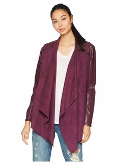 Blank Drape Front Jacket in Cabernet