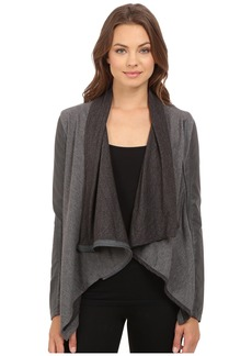 Blank Drape Front Jacket in French Grey
