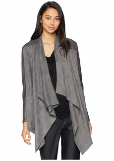 Blank Drape Front Jacket in Stone Age
