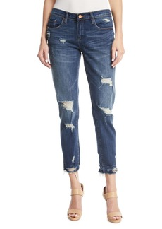 Blank Dress Down Party Distressed Cropped Skinny Jeans